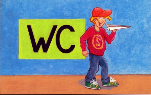Illustration - WC-Schild Kindergarten Jungs
